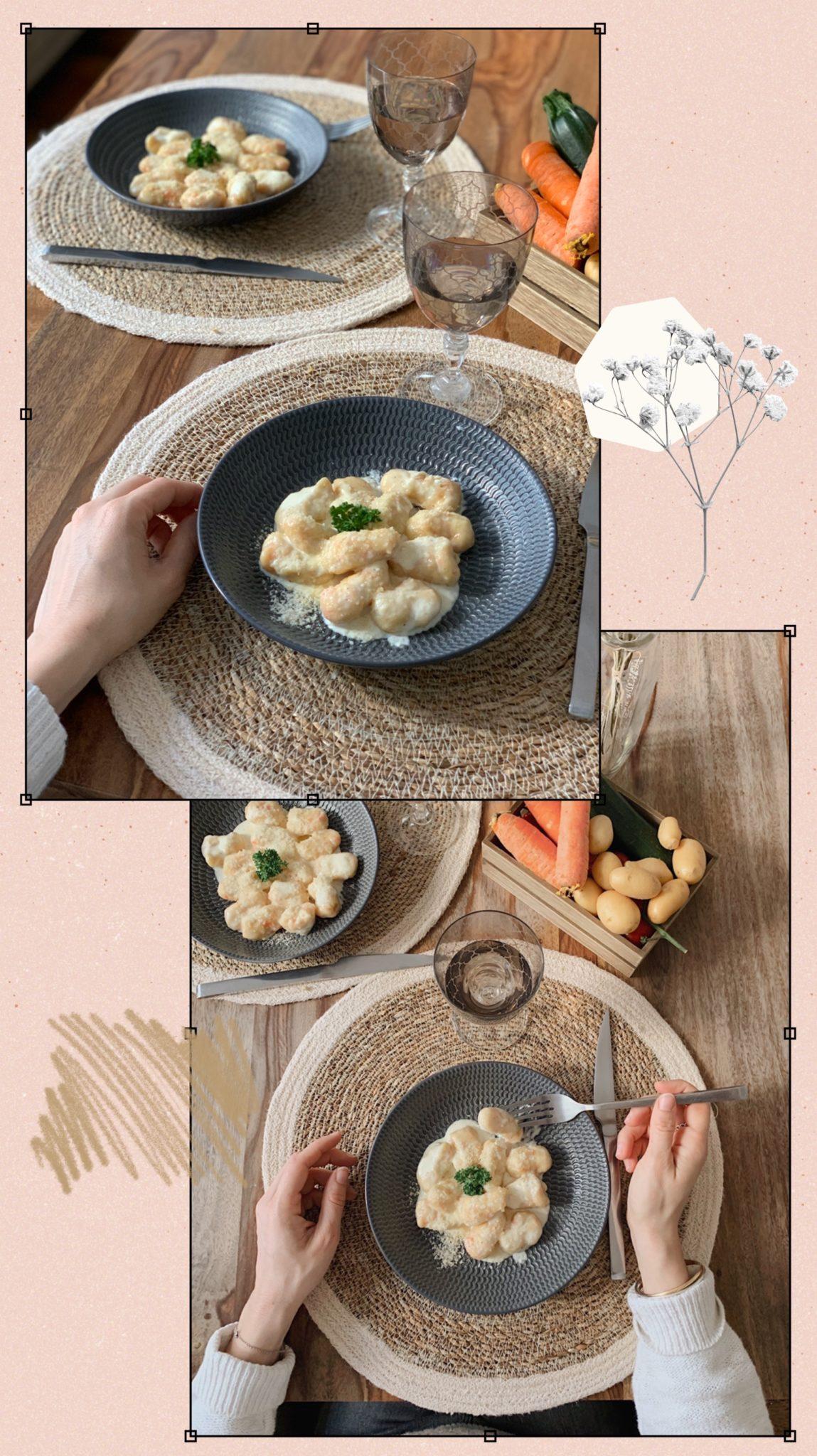 recette gnocchis à la crème de parmesan