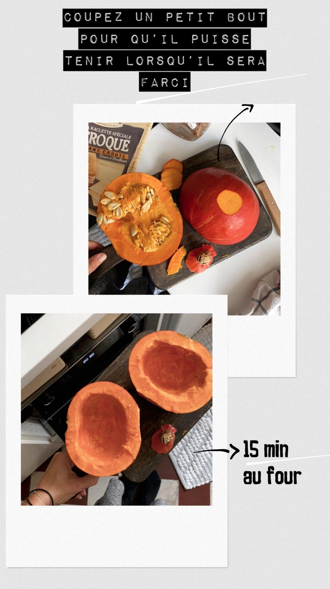 recette potimarron automne, four