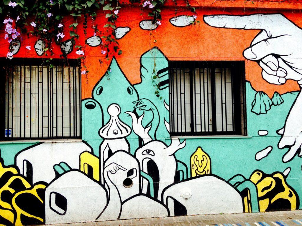 graffiti présents dans le quartier de Palermo Soho