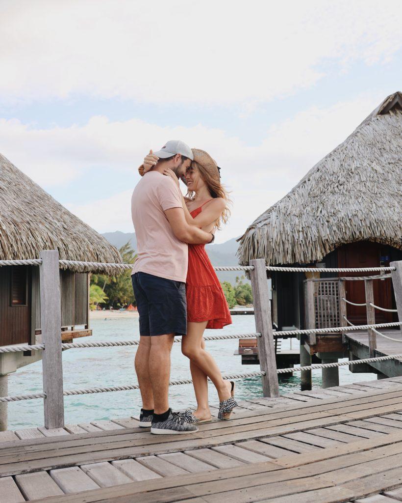 lune de miel en Polynésie Française moorea pilotis