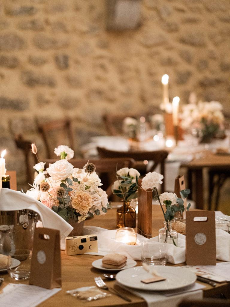 décoration mariage fleurs table enfants, décoration de tables de mariage