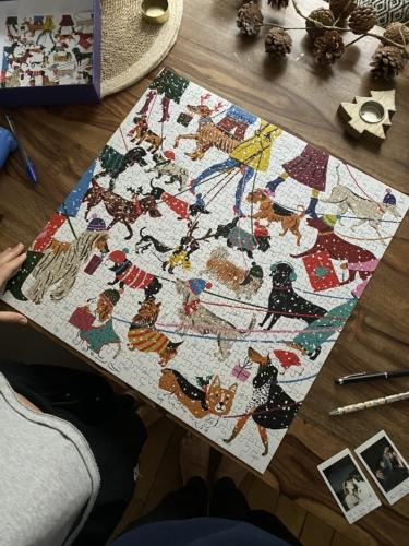 Puzzle galison chiens d'hiver