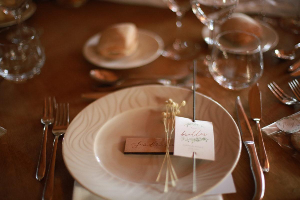 marque place cadeaux invités mariage