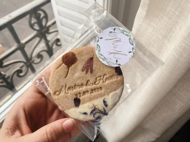 biscuits personnalisés cadeaux mariage invités